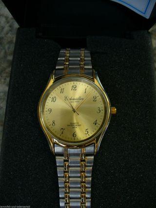 Eichmüller Gold Uhr Marken Armbanduhr Herren,  Damen Metallarmband Bild