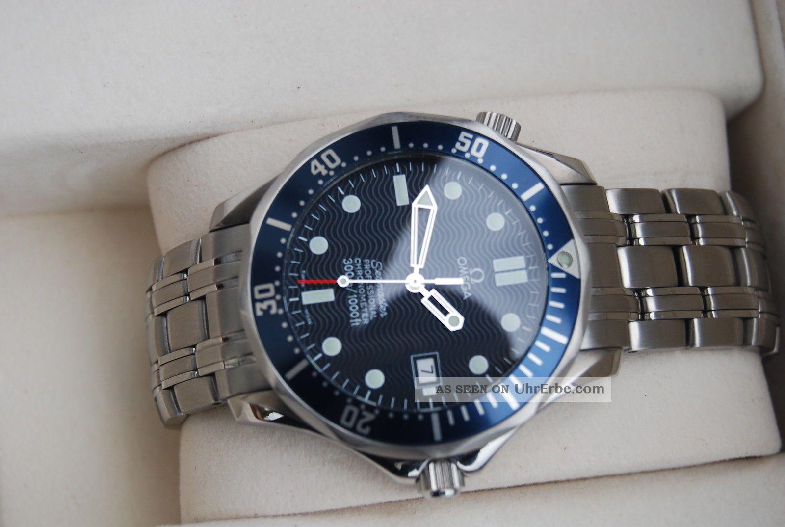 Nos Omega Seamaster Professional Chronometer Automatic 300m Diver James Bond Armbanduhren Bild