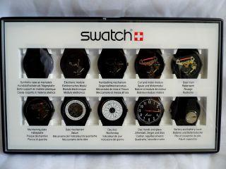 Swatch Special - 10 Step Production Showcase (black) Clubpack2 - Schaukasten Bild
