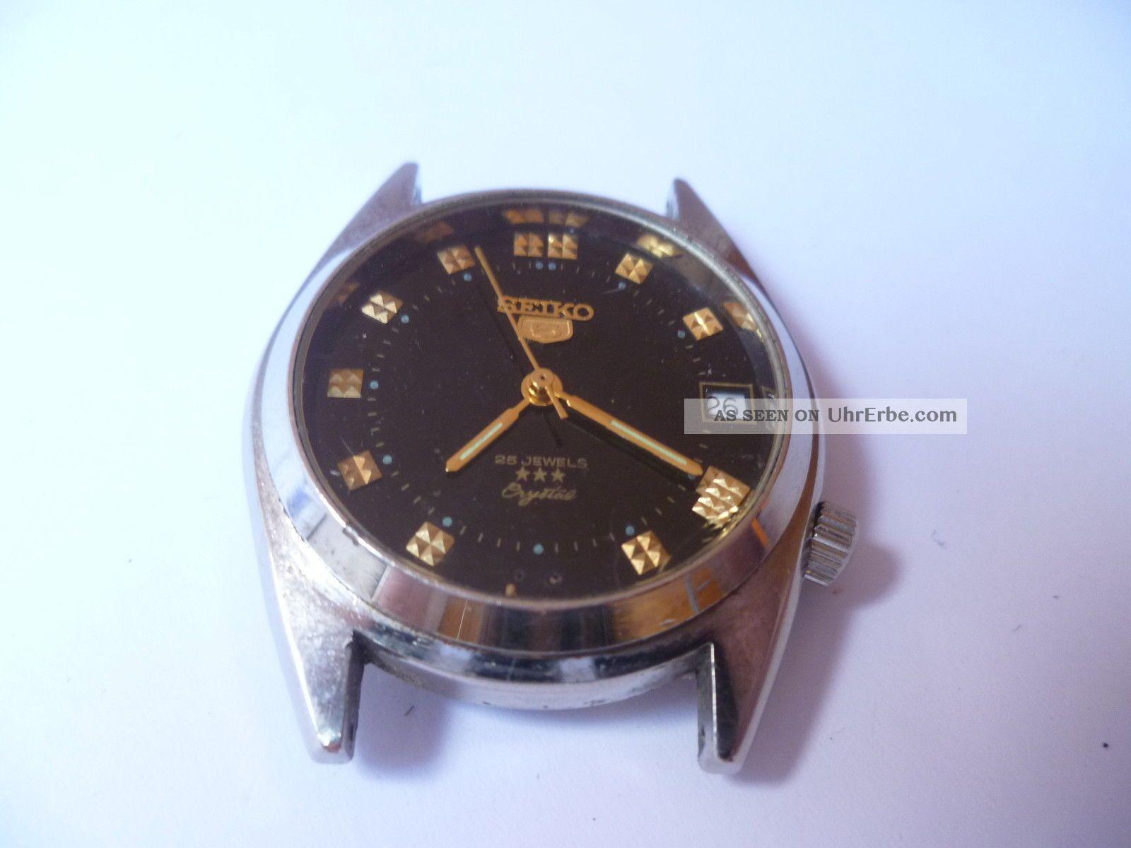 Seiko 5 Automatik Herrenuhr - Stahl/stahlband Muss Gereinigt Werden Händler 3878 Armbanduhren Bild