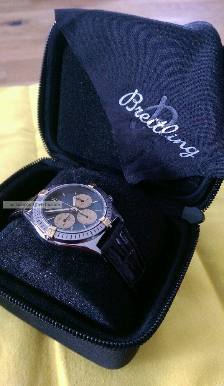 Breitling Callisto Chronograph Stahl - Gold Handaufzug Armbanduhren Bild
