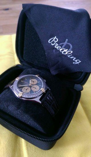 Breitling Callisto Chronograph Stahl - Gold Handaufzug Bild