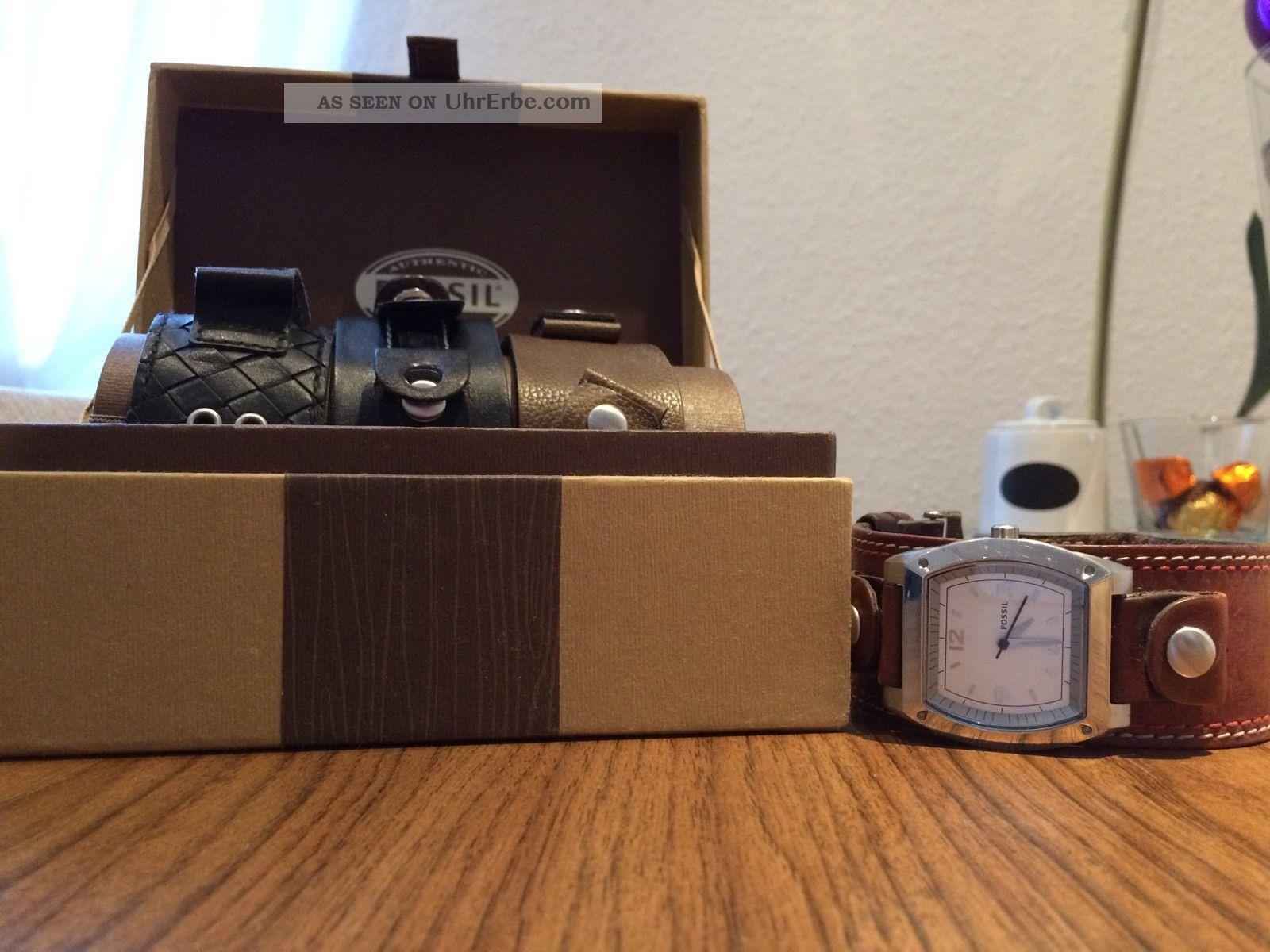 Fossil Uhr Mit 4 Bändern Armbanduhren Bild