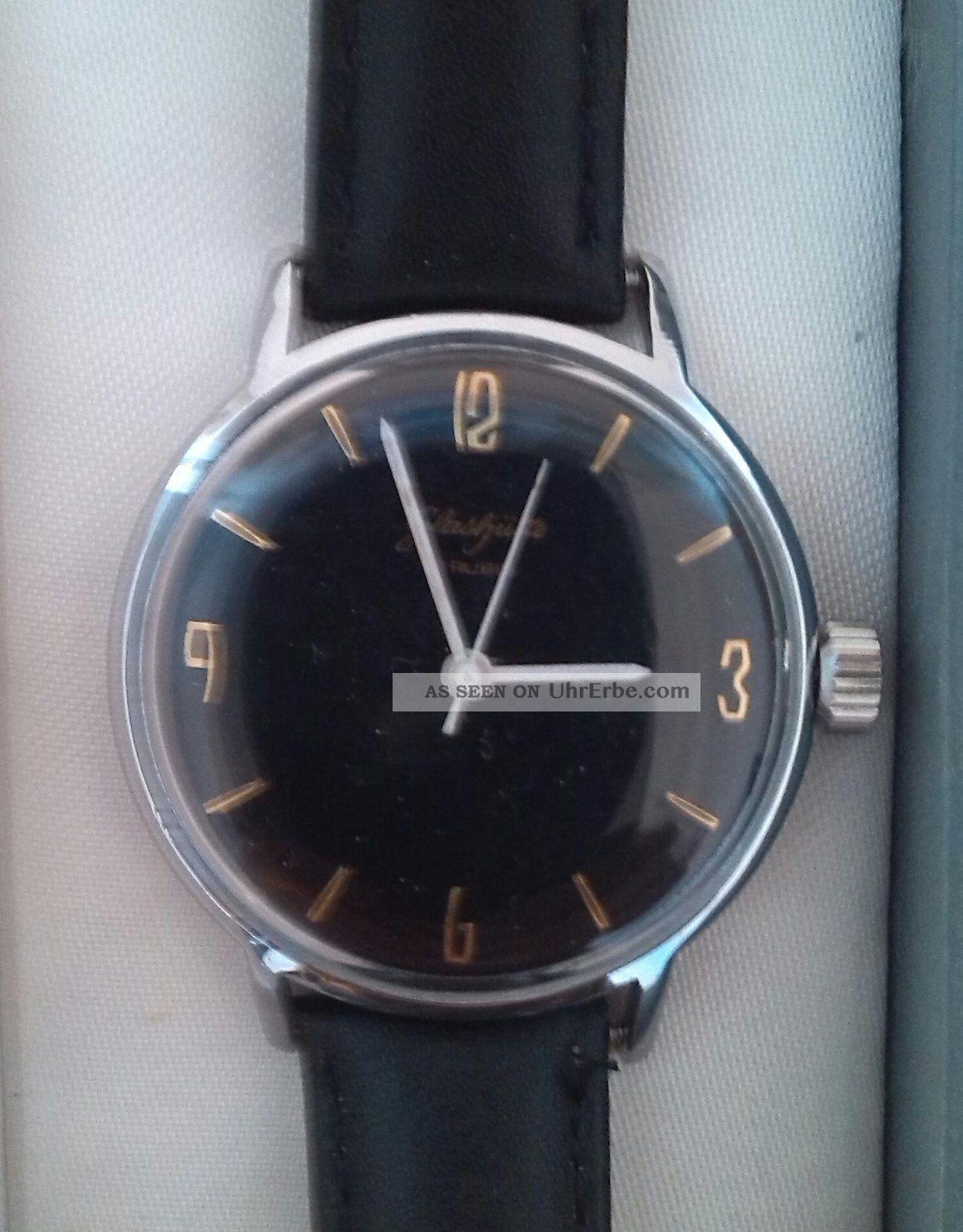 Glashütte,  Gub,  17rubis,  Etwa 1963,  Herrenarmbanduhr Armbanduhren Bild