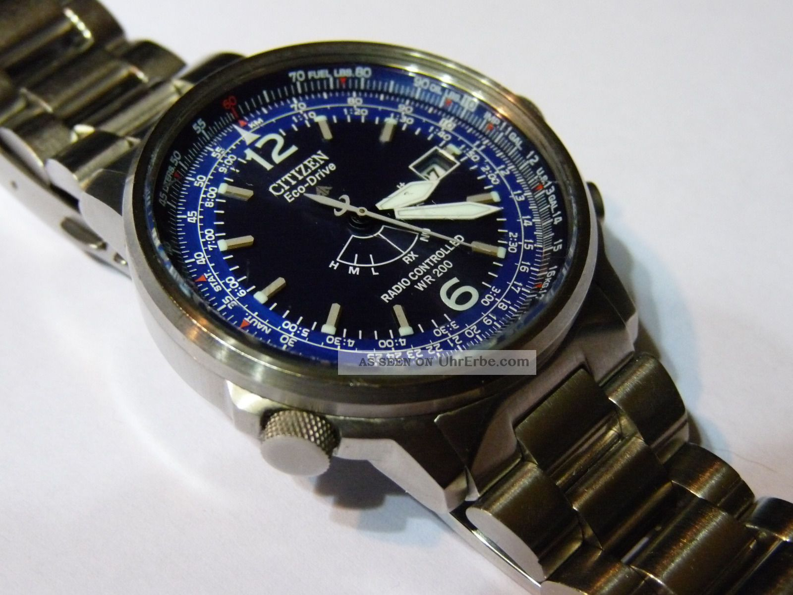 Citizen As 2020 - 53 L Promaster Pilot Eco - Drive Funkuhr Armbanduhren Bild