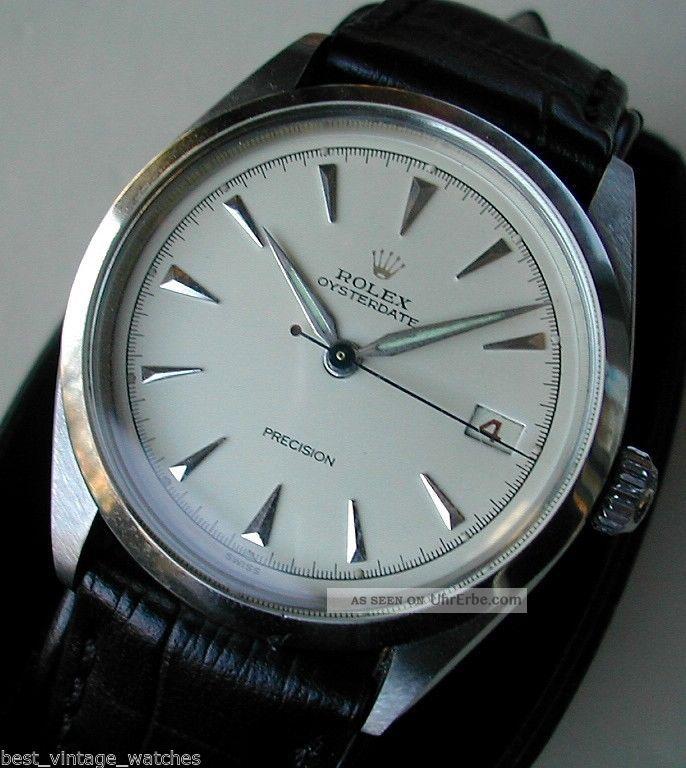 Rolex Oyster Date,  Rotes Datum,  Sehr Selten & Sehr Gut Erhalten,  Revisioniert Armbanduhren Bild
