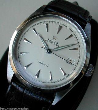 Rolex Oyster Date,  Rotes Datum,  Sehr Selten & Sehr Gut Erhalten,  Revisioniert Bild