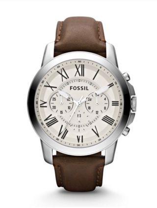 Fossil Uhr Herrenuhr Fs4735 Grant Leder Bild