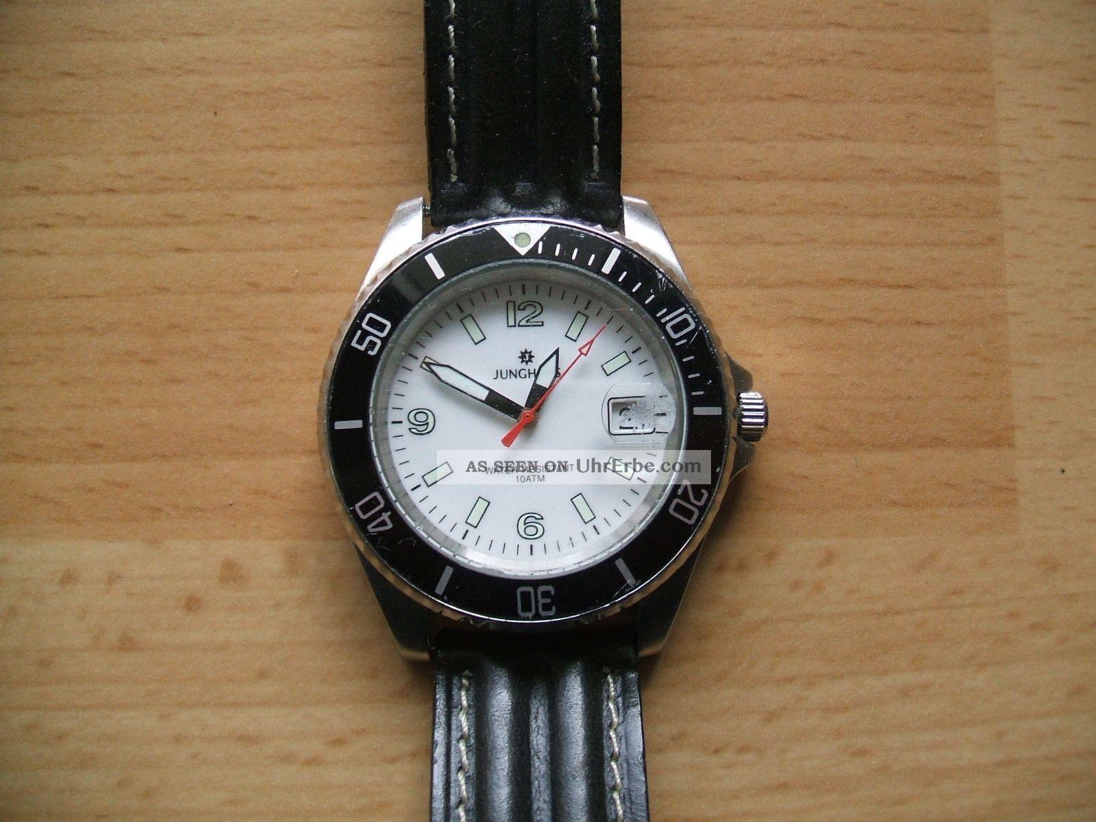 Uhr Sammlung Alte Junghans Quarz Herrenuhr 10atm Armbanduhren Bild