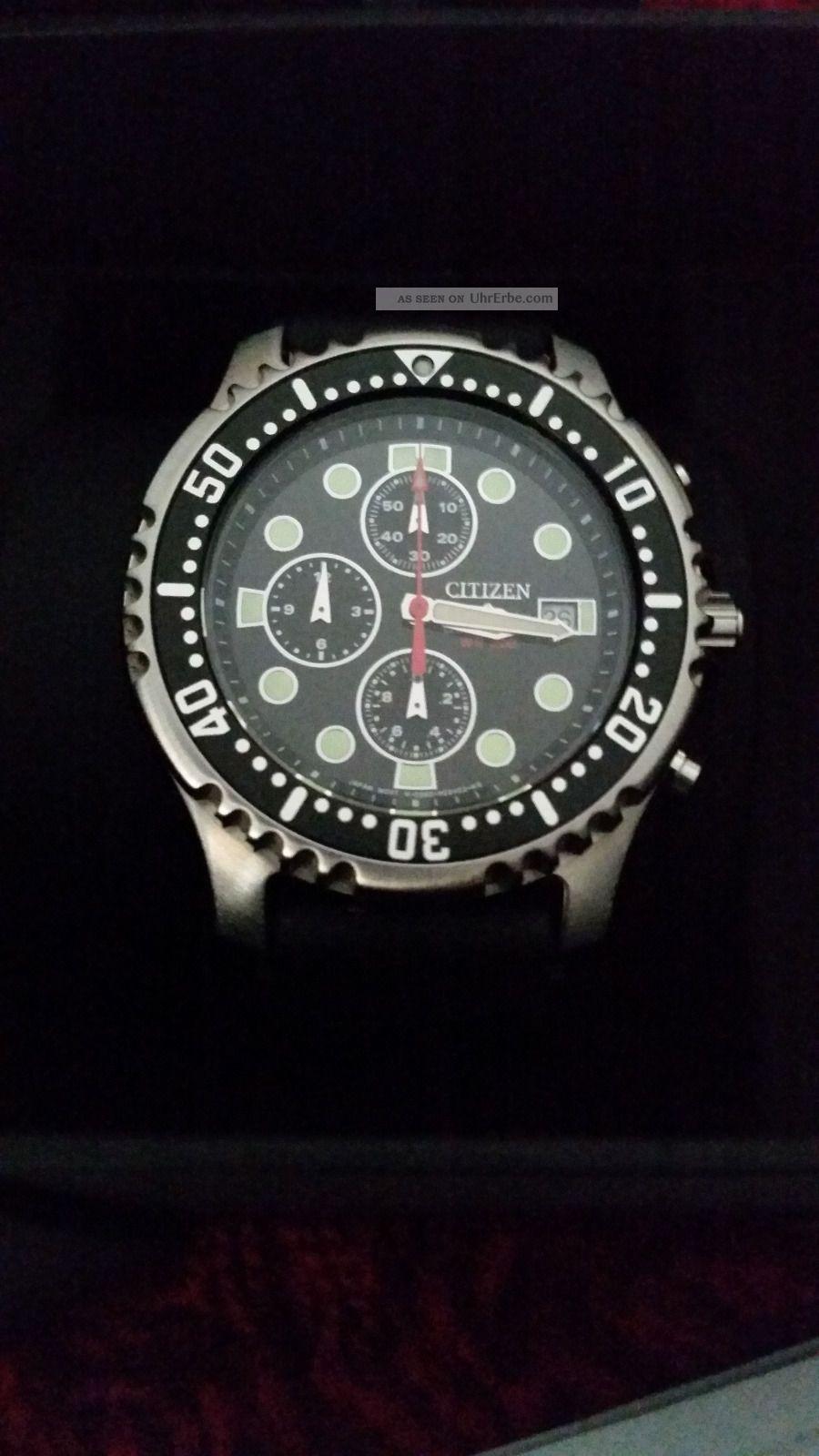 Citizen Promaster Sea An1130 - 01e Taucheruhr Für Herren 200m Mit Armbanduhren Bild