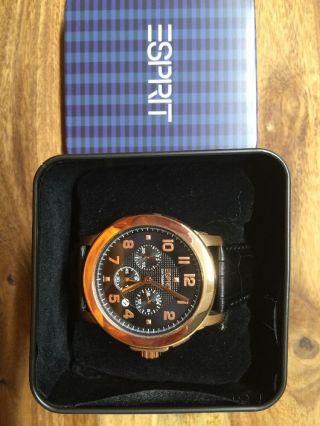 Esprit Uhr Herrenuhr Rondo Chrono Rose Gold Es102751003 Armbanduhr Bild
