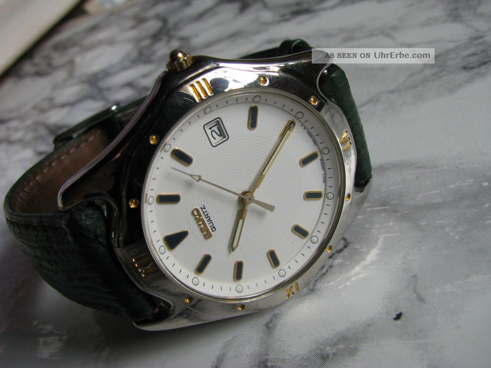 Seiko 7n47 Herren - Armbanduhr Mit Datumsanzeige Und Quarzwerk Armbanduhren Bild
