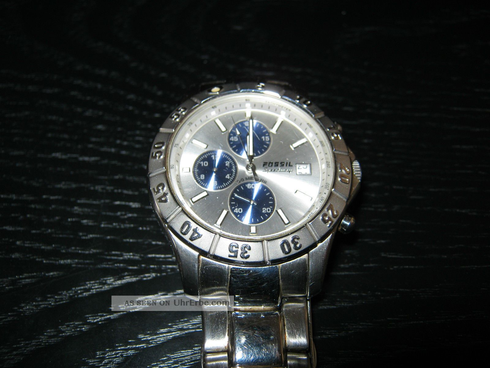 Herren Armbanduhr Fossil Blue Speedway Ch - 2335 Edelstahl,  Instruction Bastler Armbanduhren Bild