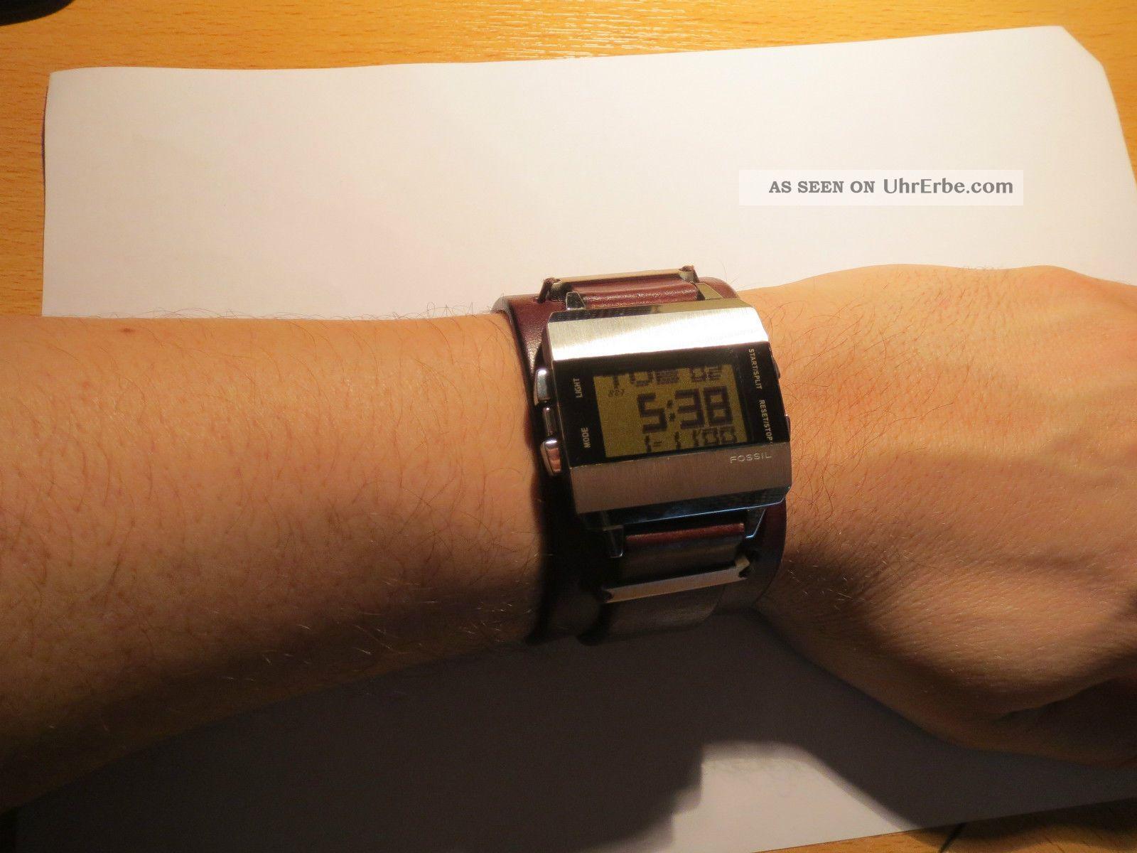 Fossil Herren Armbanduhr Leder Braun Top - Armbanduhren Bild