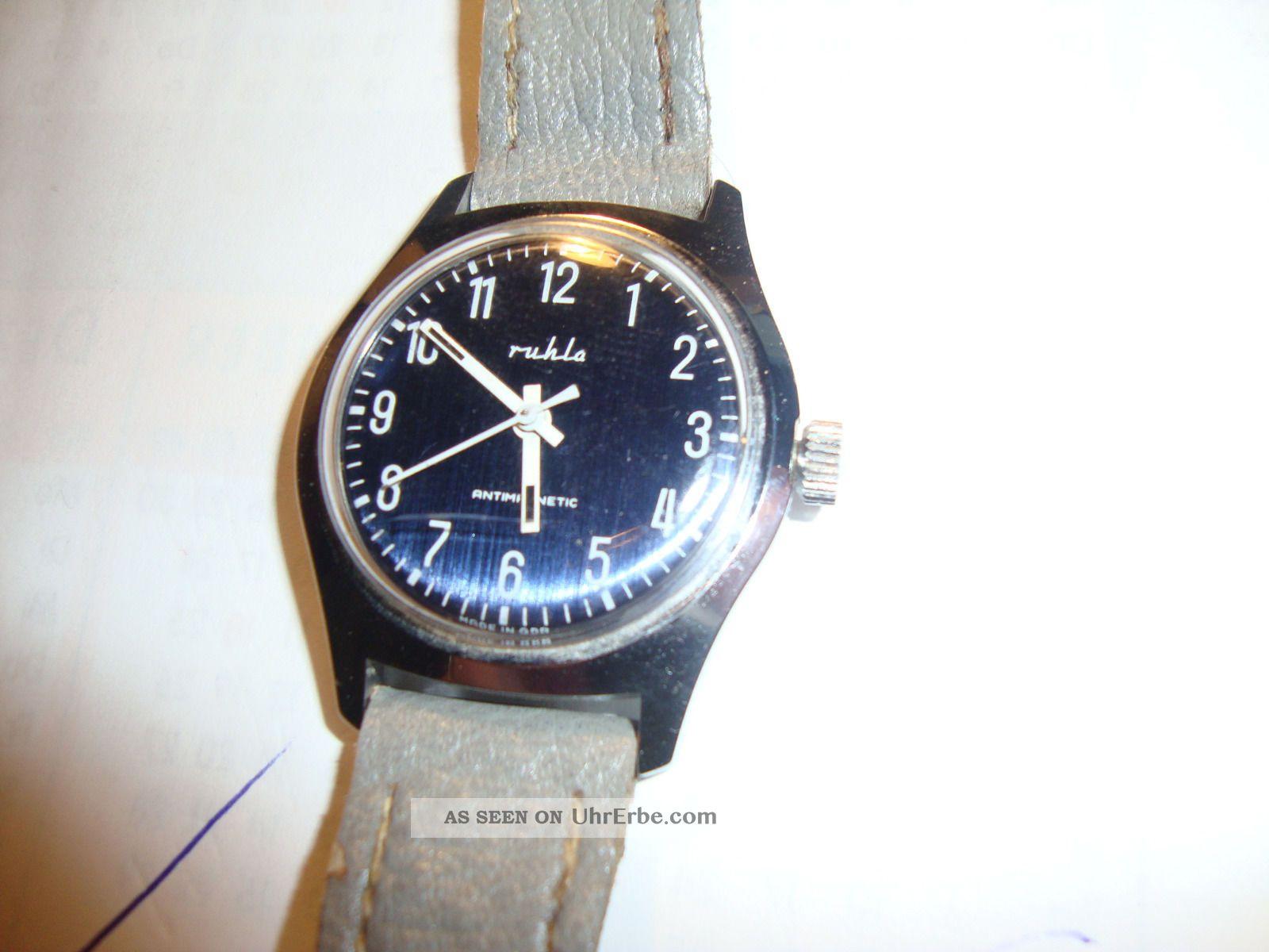 2 Armbanduhren Der Ruhlaer Uhrenbetrieb Ca.  1970/80 Armbanduhren Bild