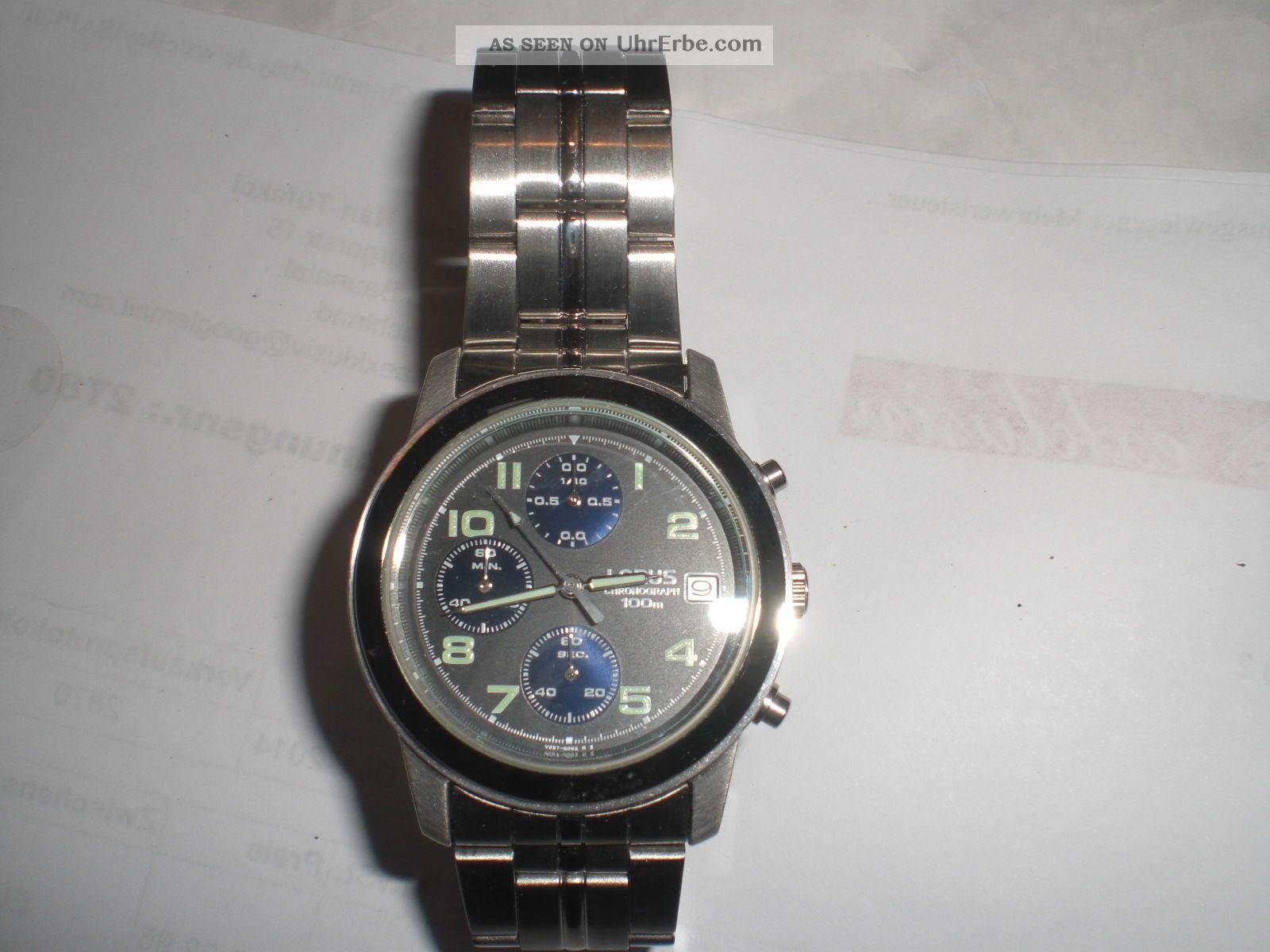 Herrenuhr Von Lorus Chronograph Armbanduhren Bild