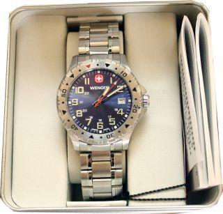 Wenger Swiss Watch Modell Off Road 79308w Mit Edelstahl - Armband Herren Uhr Bild