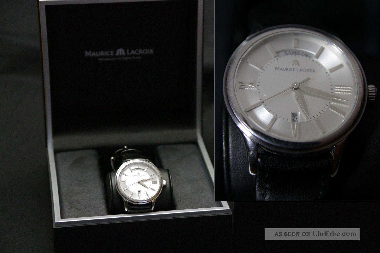 Maurice Lacroix Les Classiques Day Date Lc1047 - Ss001 - 11g Armbanduhren Bild