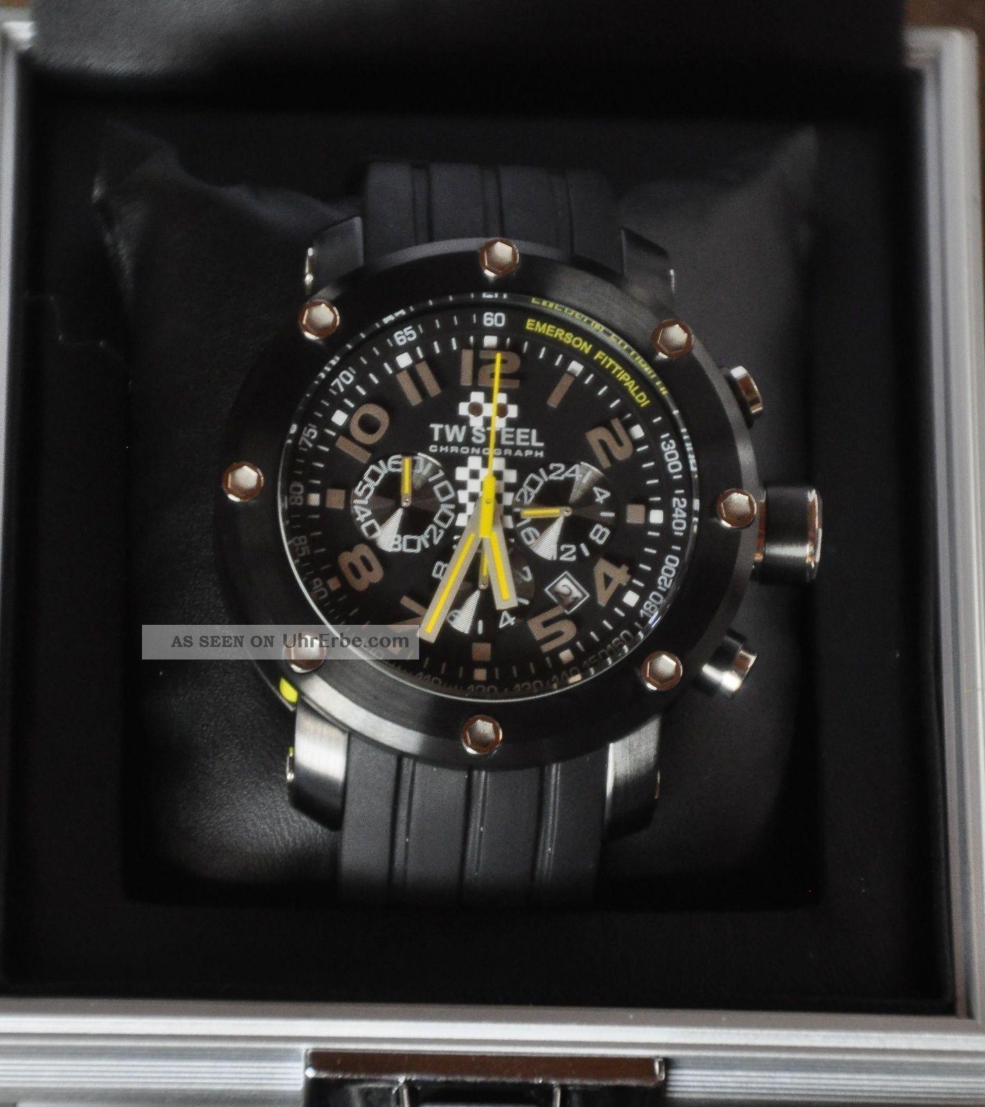 Neujahrs Schnäppchen Limited Edition Tw Steel Tw - 609 Emerson Fittipaldi Armbanduhren Bild
