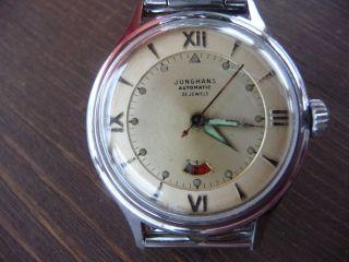 Junghans Armbanduhr Herren Alt 1951 Antik Automatikuhr Vintage In Orig Schachtel Bild