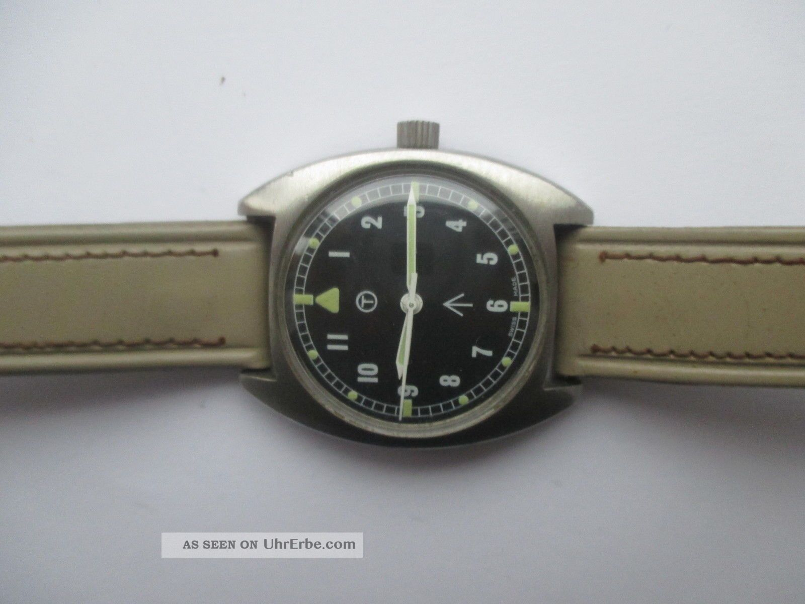 Vintage Hamilton Handaufzug Militär - Armbanduhr Stahl Armbanduhren Bild