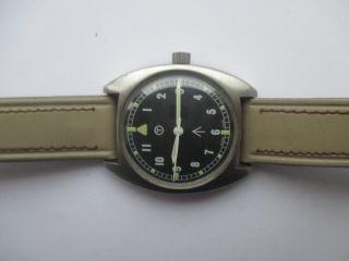 Vintage Hamilton Handaufzug Militär - Armbanduhr Stahl Bild