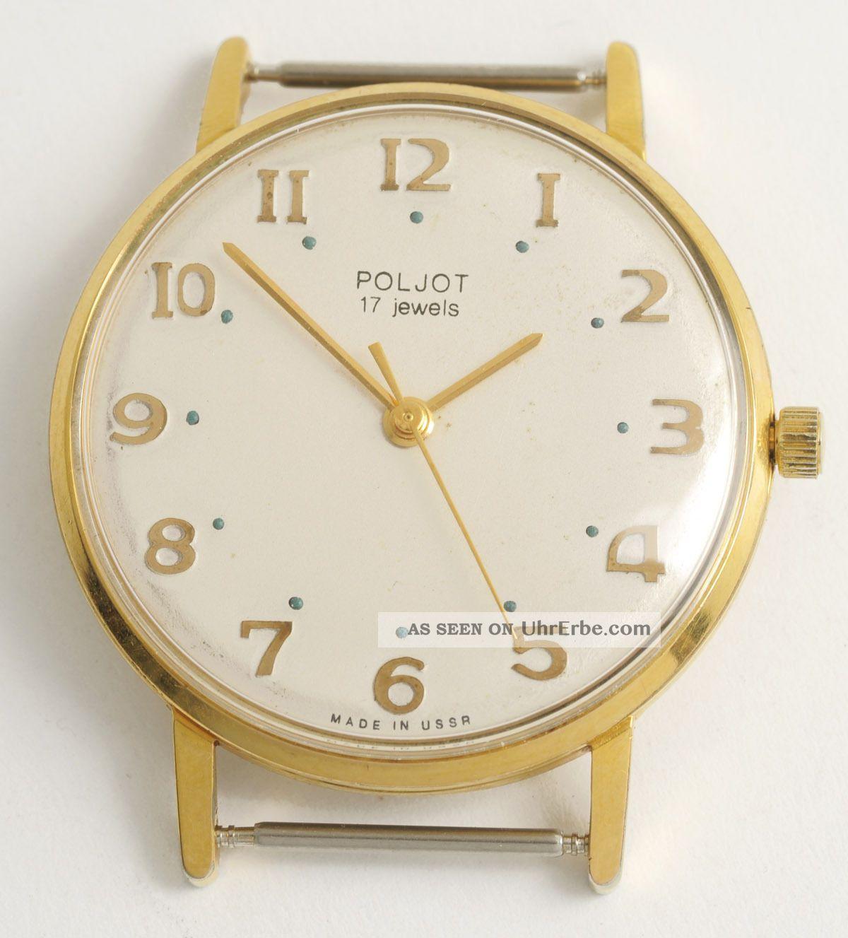 Poljot Klassische,  Elegante Soviet Armbanduhr.  Made In Ussr Vintage Dress Watch. Armbanduhren Bild