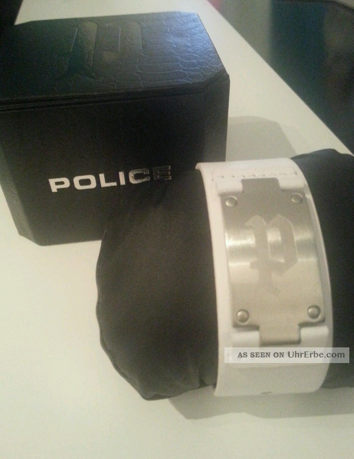 Police Armband Weiß Herren Herrenarmband Armbanduhren Bild