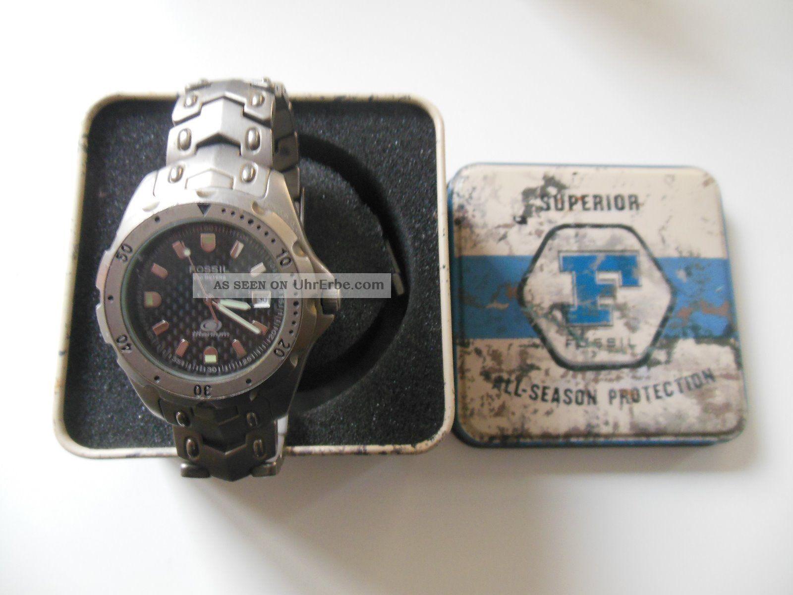 Fossil Armbanduhr Herrenarmbanduhr Titanium Ti - 5019 Armbanduhren Bild