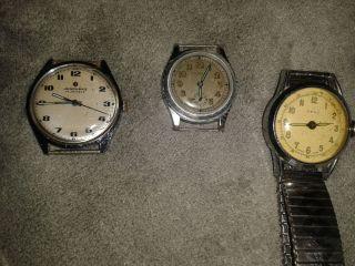 Kleines Hau Uhren Konvolut Junghans Fero 1unbekannte Uhr Bild