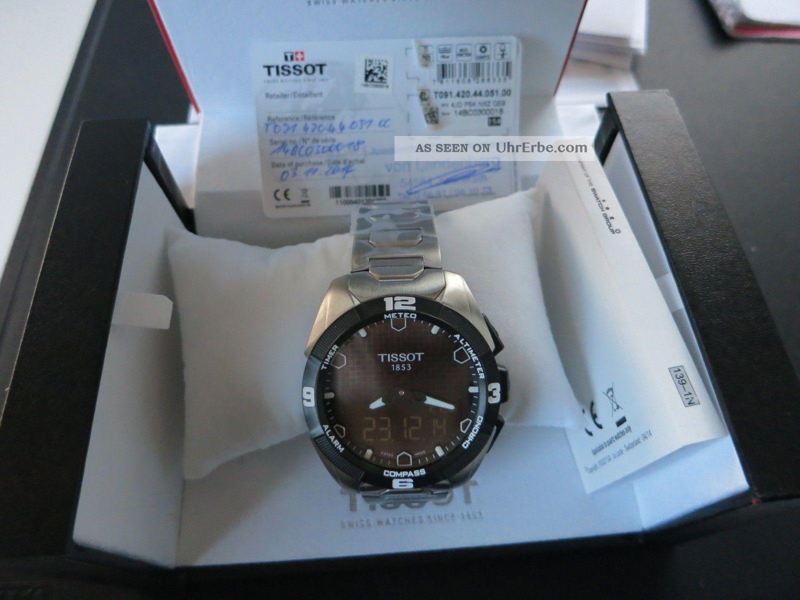 Tissot T - Touch Expert Solar 45mm Titan Ungetragen Armbanduhren Bild