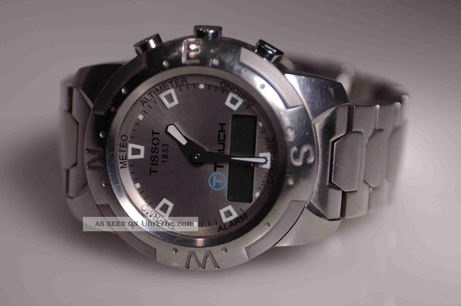 Tissot T - Touch,  T33.  2.  488.  71 Edelstahl,  Batterie Leer Armbanduhren Bild