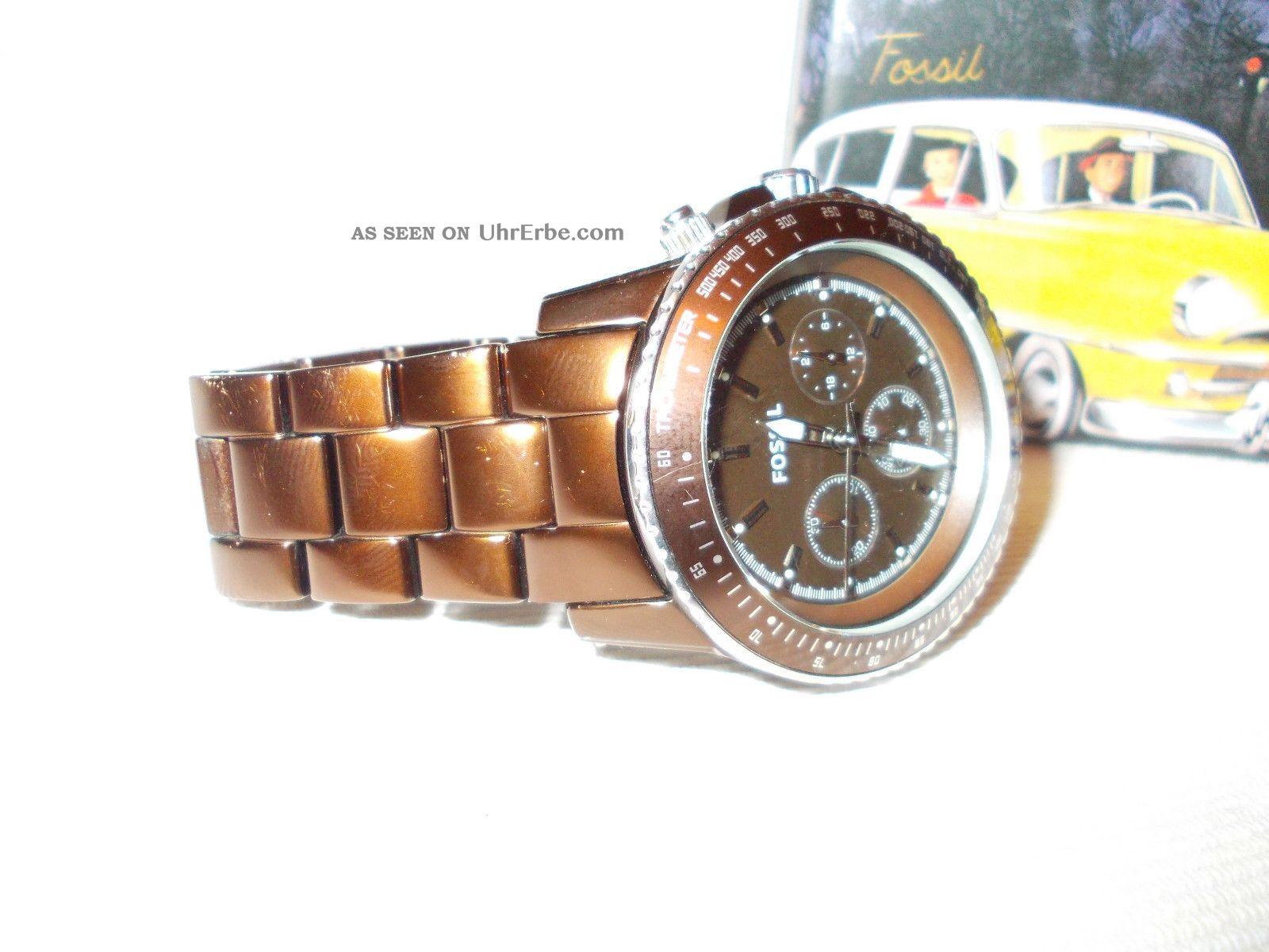 Schöne Originale Fossil Herrenuhr Armbanduhren Bild