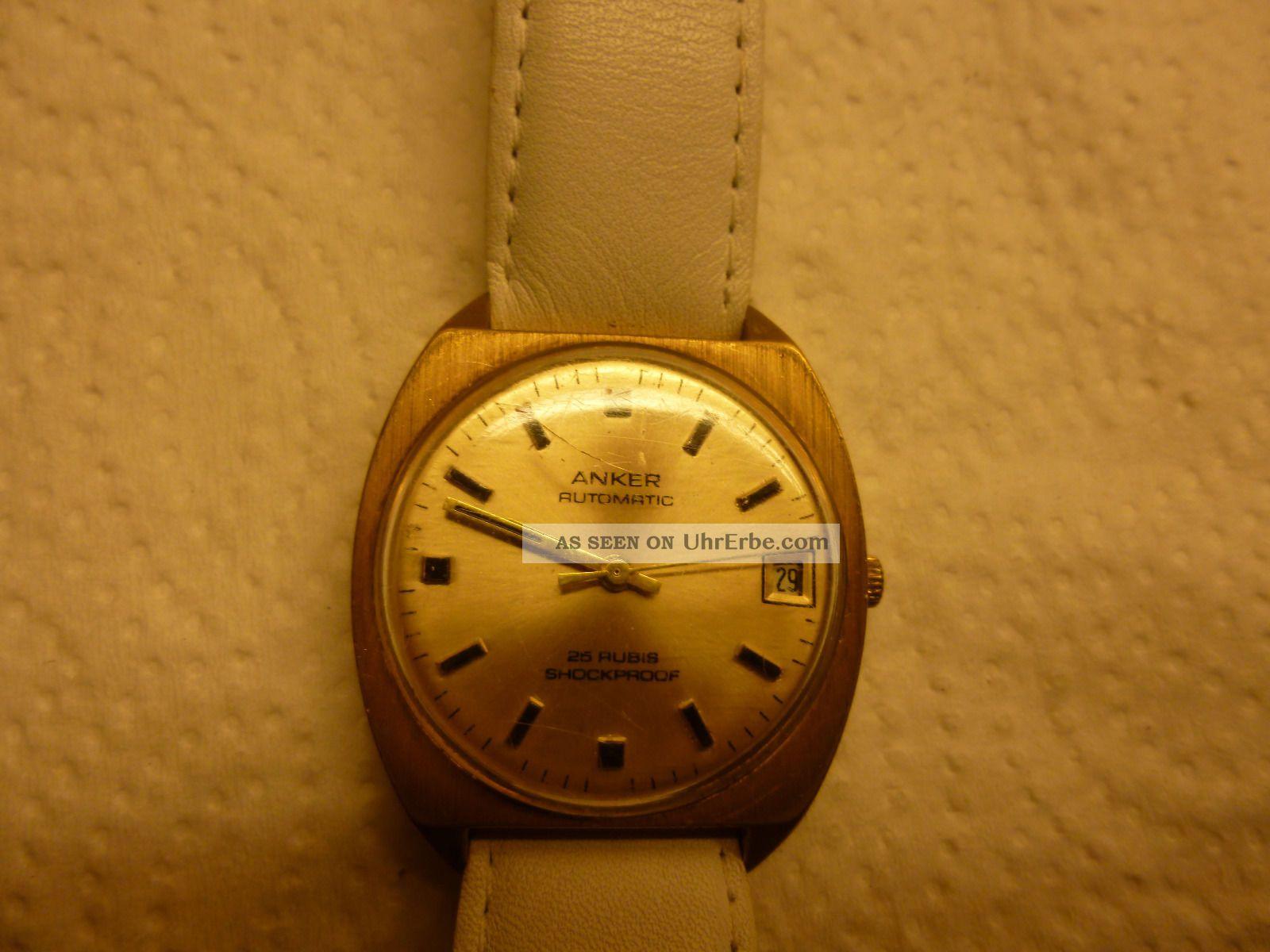 Armbanduhr Aus Papas Sammlung Nr.  22 Anker Autom 25 Rubis Funkt Mindes 12 Std. Armbanduhren Bild