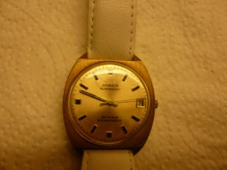 Armbanduhr Aus Papas Sammlung Nr.  22 Anker Autom 25 Rubis Funkt Mindes 12 Std. Bild