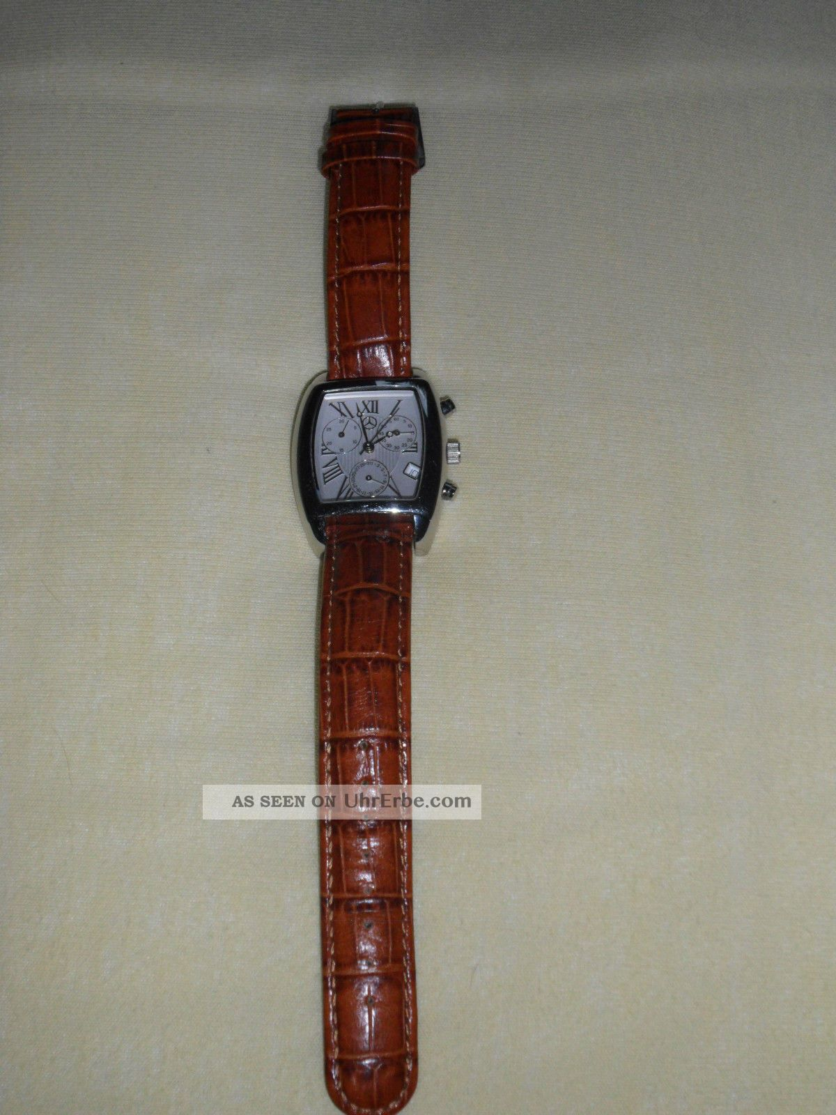 Herrenuhr Herren Armbanduhr Uhr Lederarmband Mercedes Benz Armbanduhren Bild