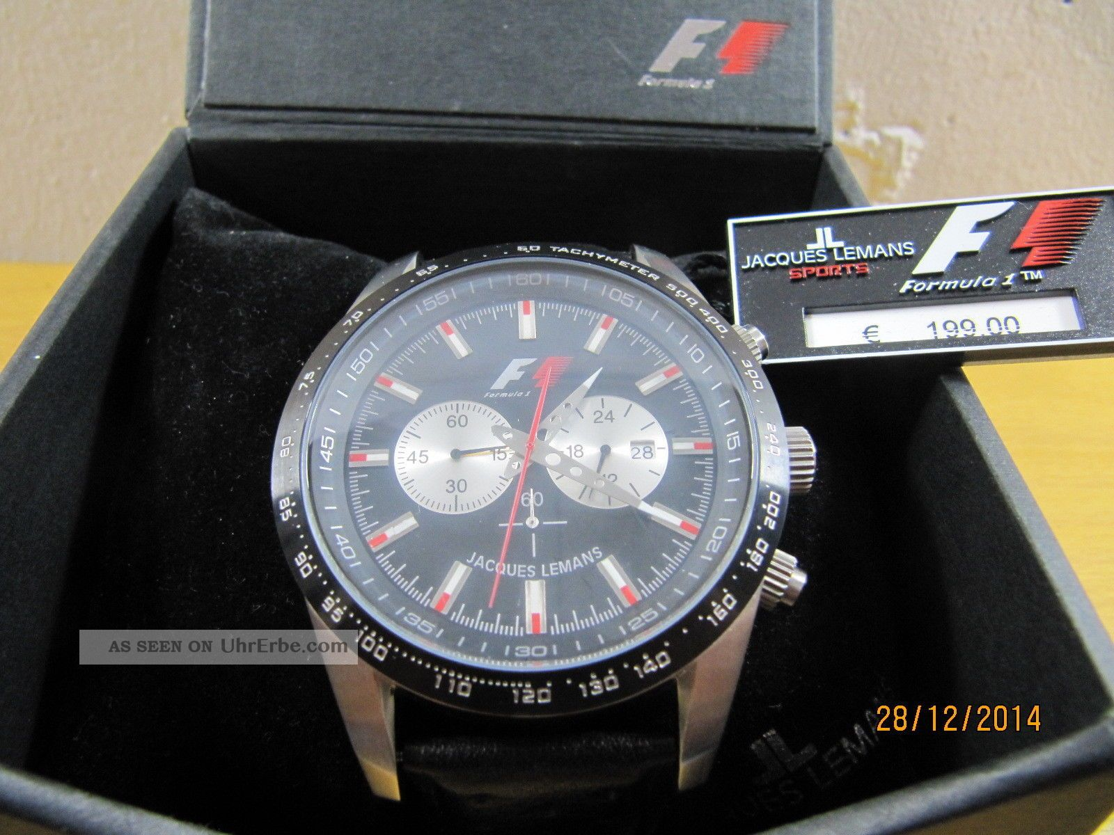 Jacques Lemans Formel 1 Retro Xxl 5018 Herren Armbanduhr Uhr Selten Top Armbanduhren Bild