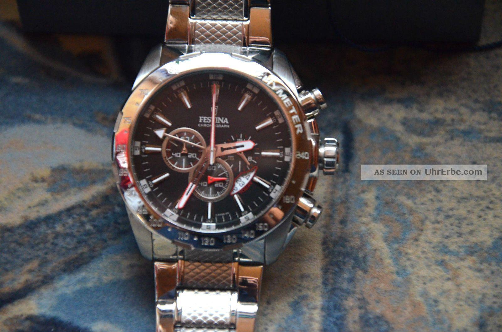 Festina Dual Time Calender Herren Sportuhr Armbanduhren Bild