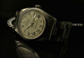 Men ' S Rolex Datejust Buckley Creamy Dial Ref.  1600 Vintage Watch,  7836 Band 36mm Bild