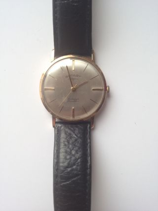 Rotary Hau Armbanduhr Männer Gold 9 Karat Vintage Alt Bild