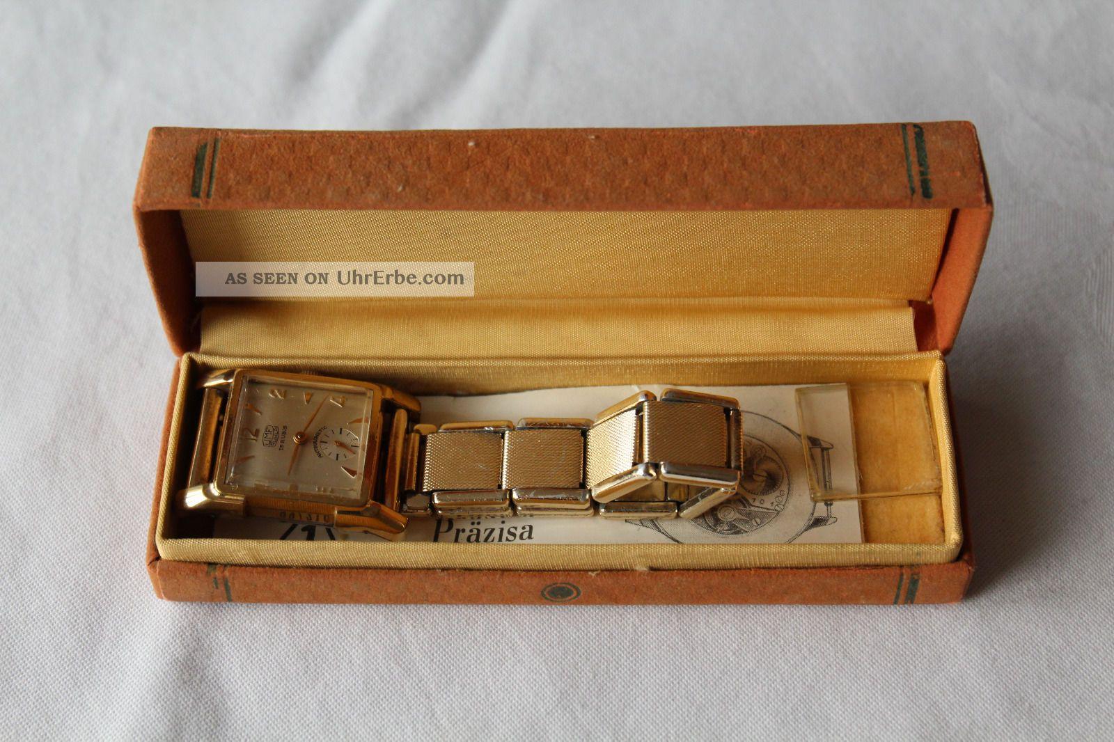 Umf Ruhla 15 Rubis Herrenuhr Armbanduhr Handaufzug Mechanisch Armbanduhren Bild