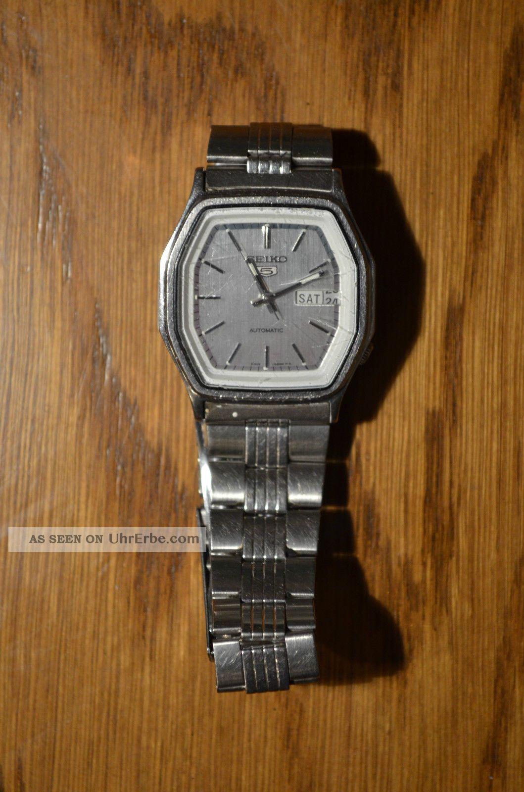 Armbanduhr Herrenarmbanduhr Seiko Automatic Glas Zerkratzt Armbanduhren Bild