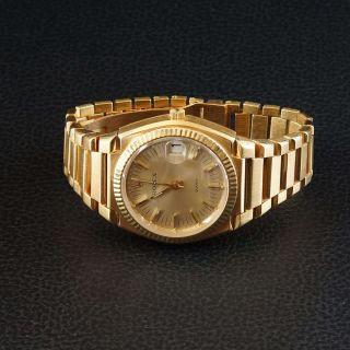 Sehr Seltene Rolex Beta - Quarz Gelbgold Bild