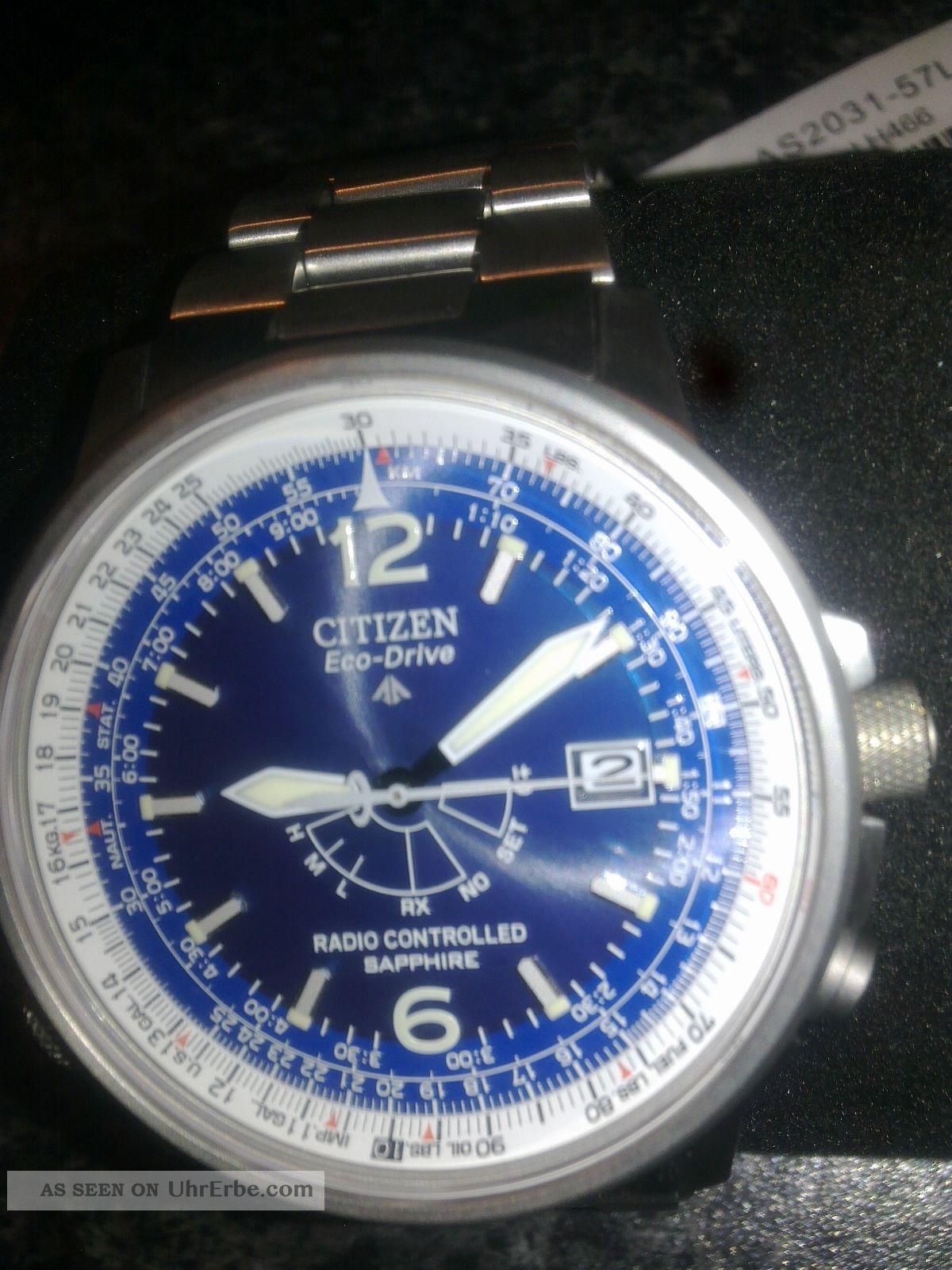 Citizen Herren Funkuhr Voll Titan As2031 - 57 L Armbanduhren Bild