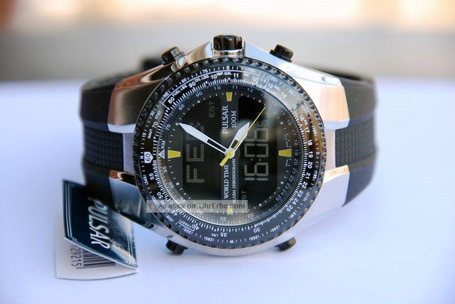 Herrenuhr Armbanduhr Fliegeruhr Pilotenuhr Pulsar Pm7003 Armbanduhren Bild