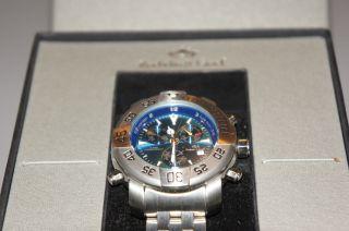 Roebelin & Graef Chronograph,  Modell Magnum Stahl Blau Bild