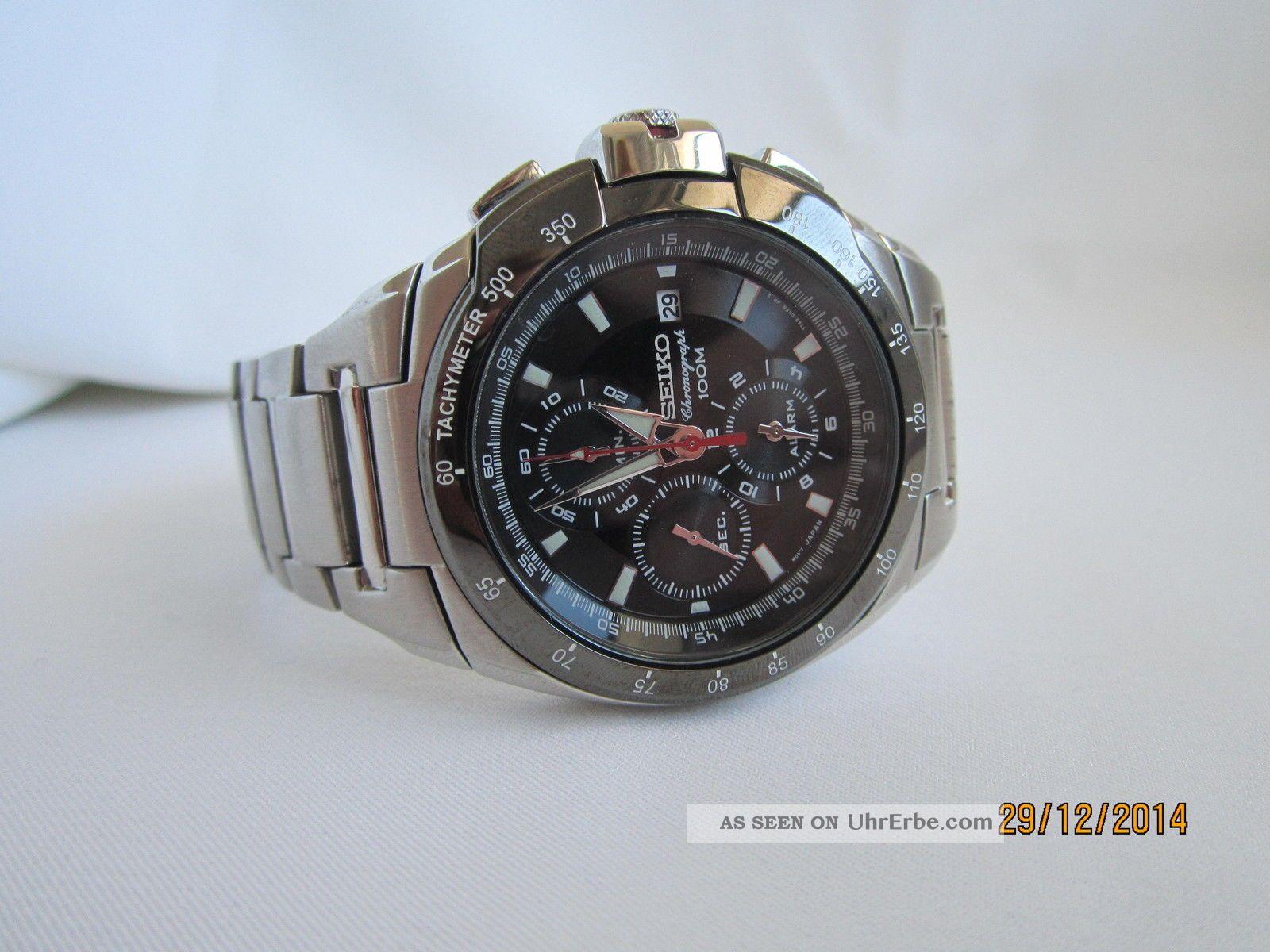 Seiko Chronograph 100m Armbanduhren Bild
