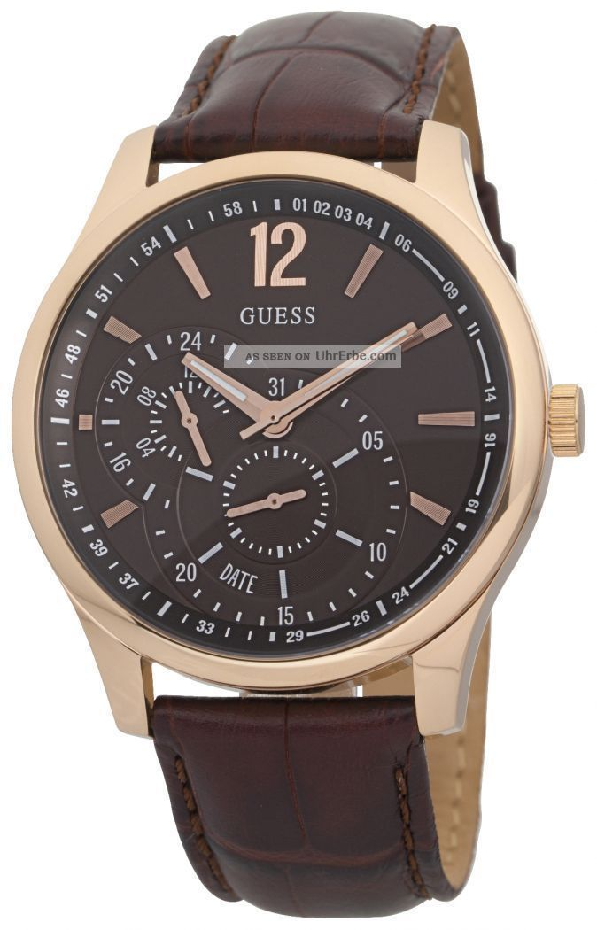Guess Vessel Date Herrenuhr Quarz W95086g1 Armbanduhren Bild