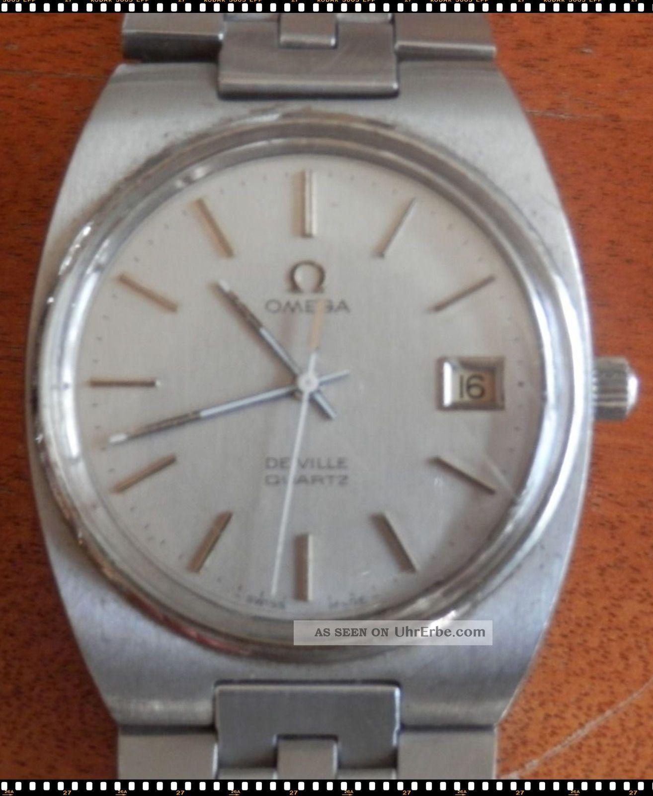 Omega De Ville Quartz,  Caliber 1342,  Aus 80 - Er Armbanduhren Bild