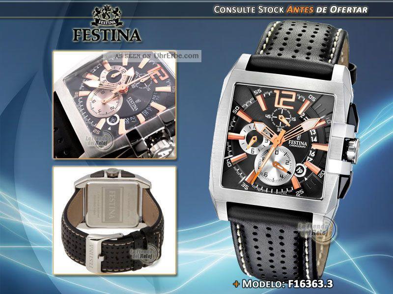 Festina 16363/3 Herren - Chronograph Armbanduhren Bild